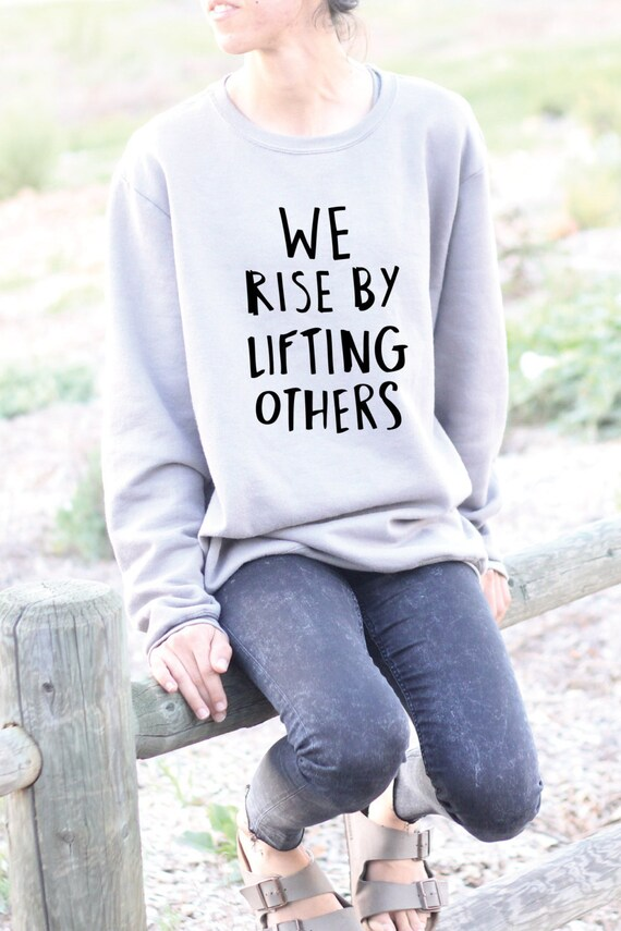 We Rise By Lifting Others - Yoga Top - Yoga Tops - Yoga Shirt - Yoga Shirts - Yoga Long Sleeve - Long Sleeve Yoga Top - Gift For Yoga Lover