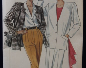 1980's Sewing Pattern for a Woman's Jacket, Skirt & Trousers in Sizes 8-18 - New Look 6826