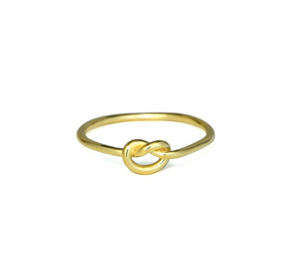 gold knot ring simple infinity knot ring bridesmaid gift