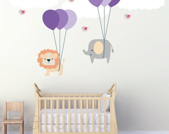 Nursery Wall Decal, Safari Nursery, Wall Decal Nursery, Baby Wall Decal, Jungle Wall Decal, Safari Wall Decal, REMOVABLE and RESUABLE