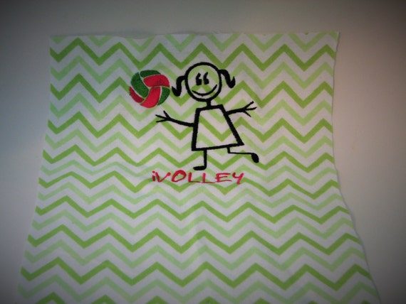 Volleyball machine embroidery design by