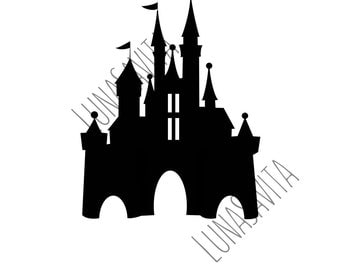 Disney Inspired Castle SVG and DXF, JPG, for Cricut, Silhouette Studio, Die Cut, Instant Download of svg, dxf & jpg