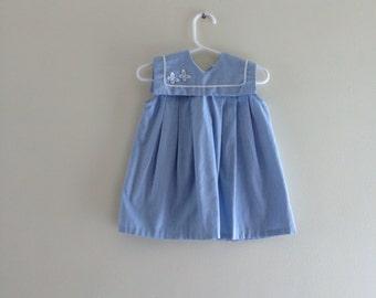 Vintage Sailor Style dress - size 18-24 month (estimated)