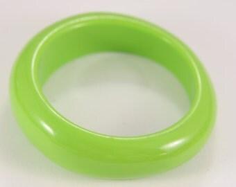 Bakelite Wide Light Green Bracelet Vintage