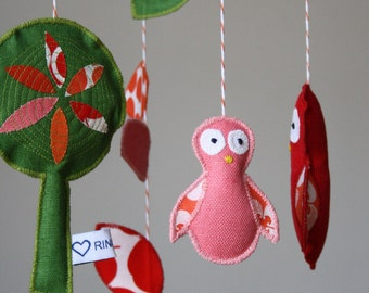 Baby mobiles - OWL mobile - nursery - decor - owl