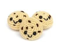 Amigurumi Mini Chocolate Chip Cookie / Amigurumi Crochet Kawaii Food Plushie Doll Plush Stuffed Toy Cookie Sweets Keychain Gift Idea