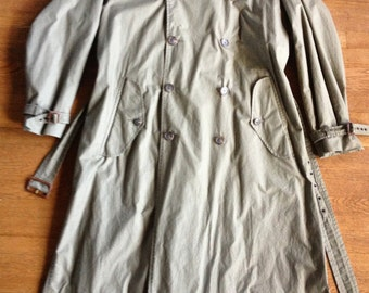 Olive Drab Long Military Trench Coat Polo Ralph Lauren