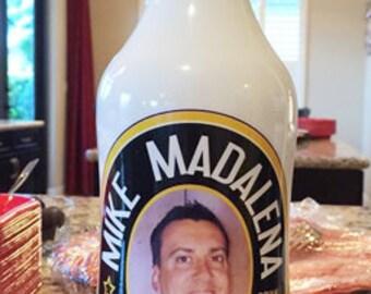Personalized Liquor Bottle Label Party Favor Malibu Rum Label Name Brand Liquor Label Fits 750ml Custom Design Waterproof Liquor Label