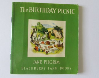 Vintage (1980s) children's book, 'The Birthday Picnic'  by Jane Pilgrim, illustrated by F. Stocks May - Blackberry Farm Books