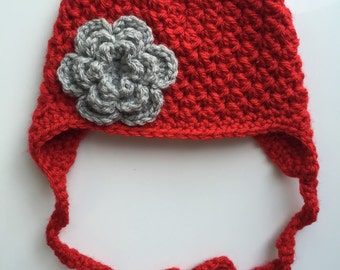 Ohio State Baby Girl Hat Toddler Child Beanie OSU Buckeyes Earflap