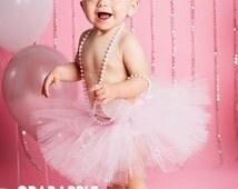 Light Pink Tutu, Pale pink tutu, Very Light pink tutu, Pink, Preemie, Newborn to 10/12 girls, Baby Tutu, Birthday tutu, Sweet Petite Tutu