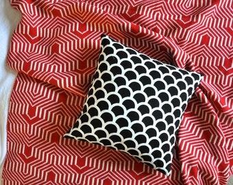Black And White Geometric Semi Circles Envelope Cushion Cover
