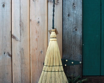 Hearth Broom with Iron Handle