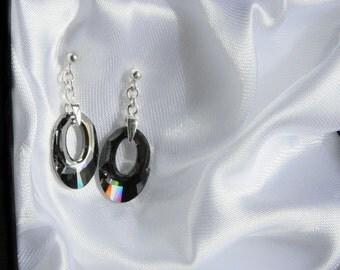 Swarovski earrings, Swarovski Crystal Earrings, Silver earrings, Silver dangle earrings