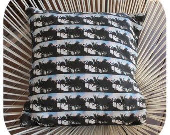 Palm Tree Silhouette Cushion Cover