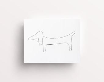 Dachshund Art Print, Dachshund Wall Art, Dachshund Print, Sausage Dog Print, Dachshund Sketch, Watercolour Drawing, Dachshund Drawing, Art
