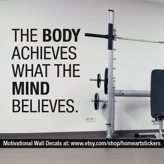 gym stickers sports wall decal exercise stickers