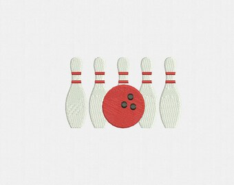 Bowling Machine Embroidery Design - 3 Sizes