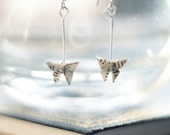 Origami Butterfly Book Page Earrings.Literary Gift.First Anniversary.Origami Jewellery.Origami Gift.Bookworm Gift.Paper Jewellery.Handmade