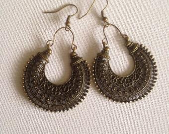SALE • Tribal earrings • Boho earrings • Bohemian earrings • Ethnic earrings • Gypsy earrings • Bronze dangle earrings