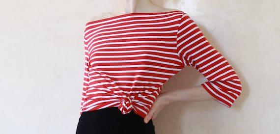Breton striped shirt boatneck top french sailor by for Striped french sailor shirt