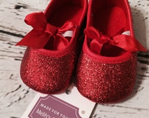 FREE SHIPPING, red glitter shoe, Valentine's Day Shoes, toddler shoe, sparkle shoe, red glitter shoes, baby shoes, baby glitter shoes