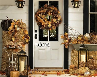 Welcome Decal, Welcome Sign, Front Porch, Entryway, Welcome Sticker