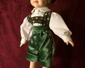 German boy porcelain doll