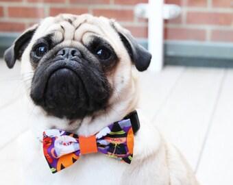 Halloween Dog Bow Tie, Halloween Dog Costume, Halloween Cat Bow Tie, Dog Bow Tie, Spooky Bow Tie, Halloween Costume Pet
