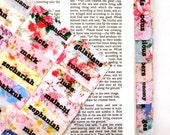 STANDARD Vintage Floral Wallpaper Antique Shabby Chintz Fine China Chic Calico Bible Tabs, Books of The Bible, English / Spanish Bible
