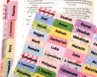 STANDARD (Series #1) Pastel Multicolored Books of Bible Tabs by Victoria Anderson