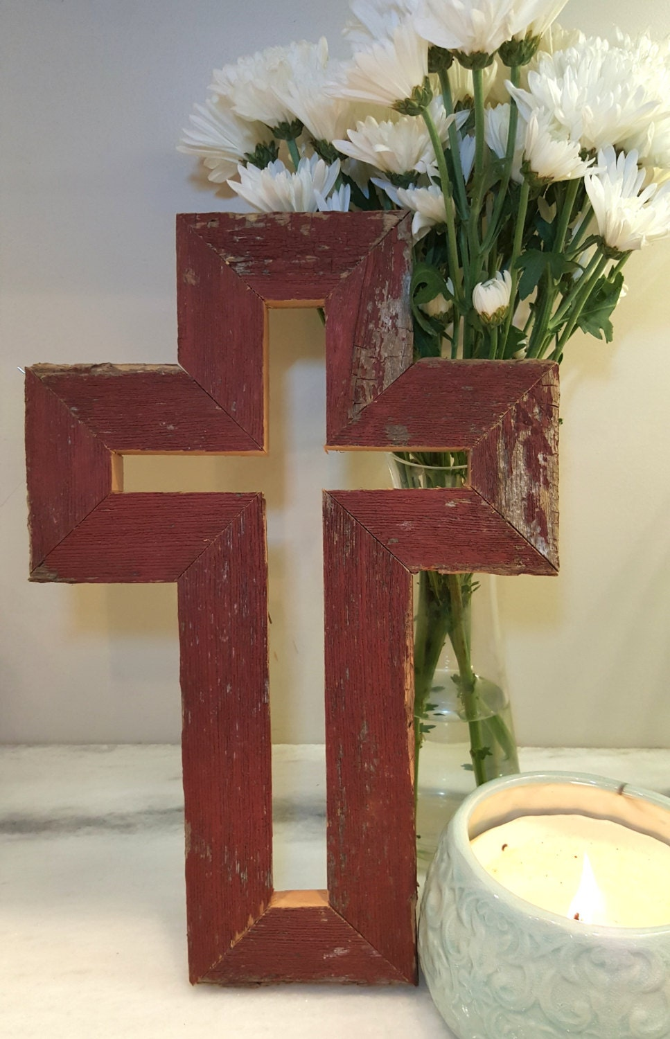 Homemade Rustic Wall Decor : Rustic barnwood cross wall d?cor handmade other color and