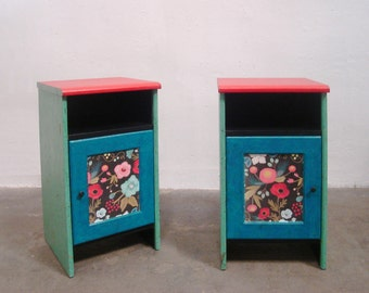 Bedside tables two springs