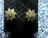 Antique Old Cut Diamond Stud Earrings 20k