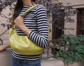 Citrine Green Hobo Bag - cross body vegan purse