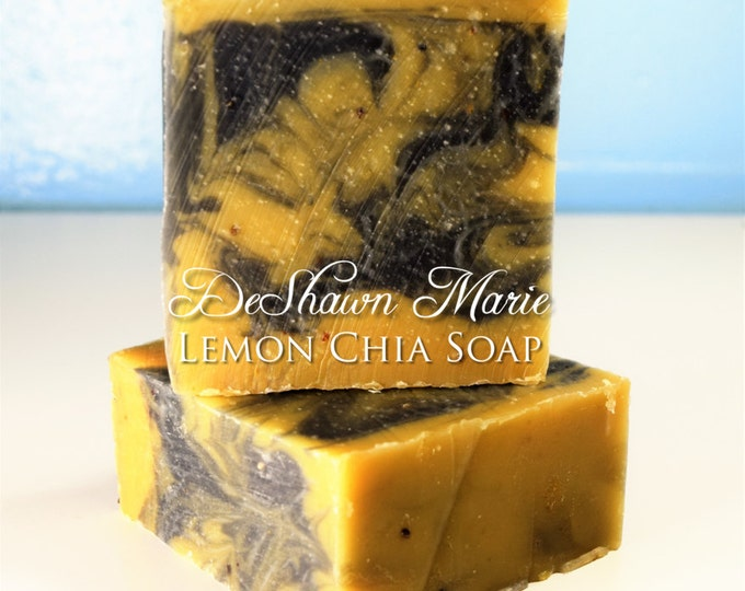 Lemon Chia Activated Charcoal Handmade Soap
