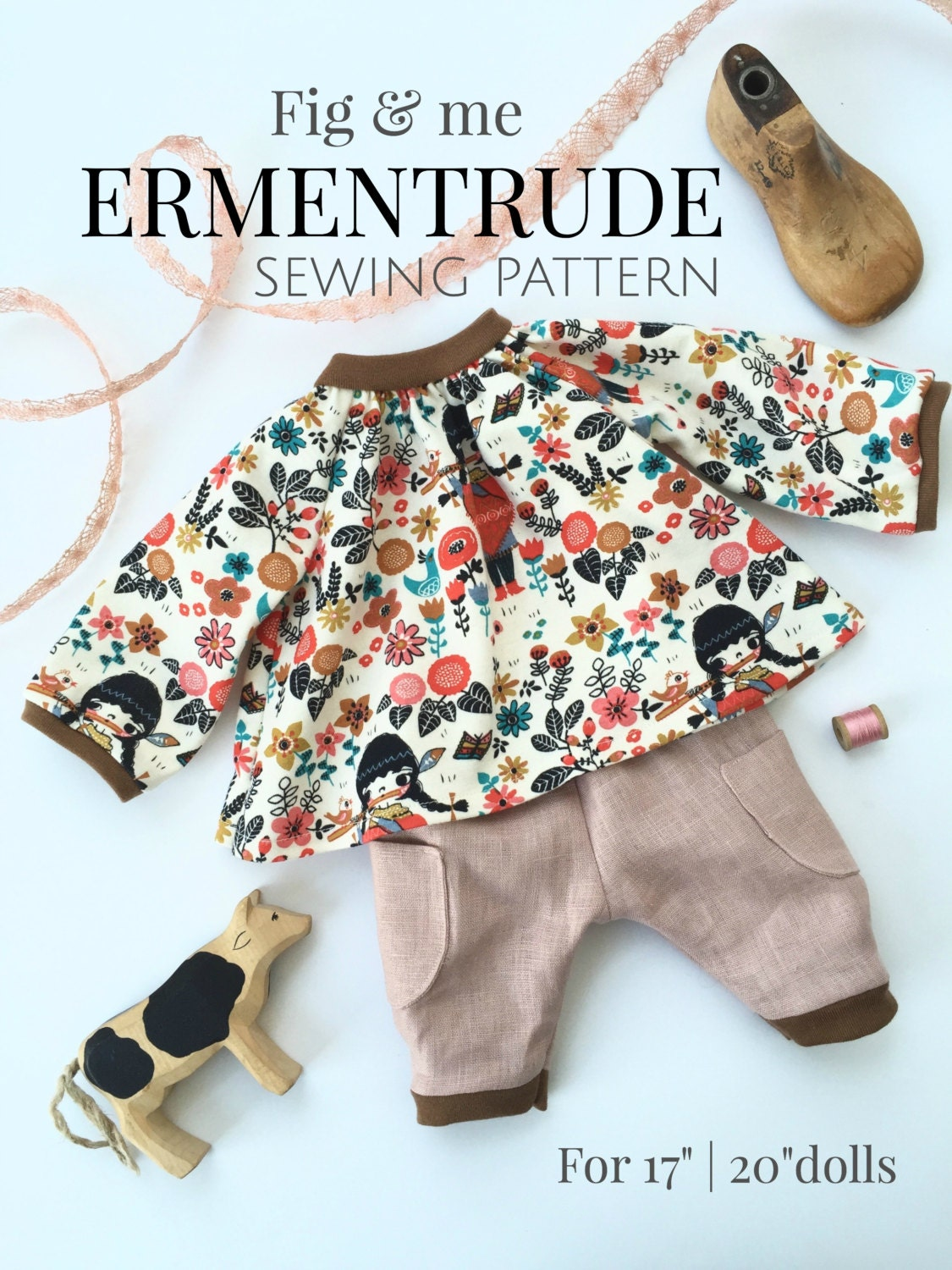 Doll clothing sewing pattern DIY doll clothes tutorial for