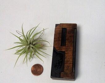 Letter P Wood Type Letterpress Block Freestanding Initial Vintage