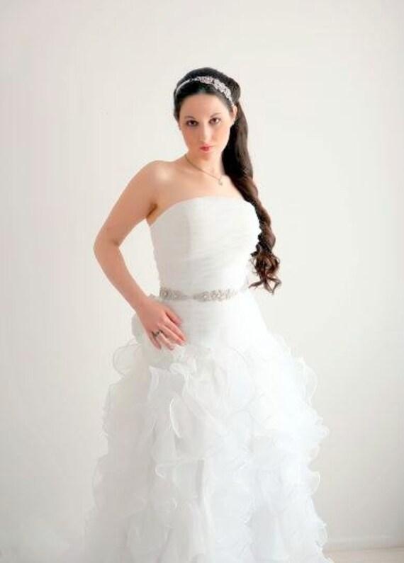 Swarovski Sash - Crystal Belt - Rhinestone Sash- Bridal Belt - Wedding Sash - Crystal Sash - Wedding Belt - Bridal Sash - RHIANNON