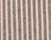 last 1/2 YARD, Gray Pink Stripes, Wide Terry Knit Fabric, Lightweight Polyester Cotton, B32