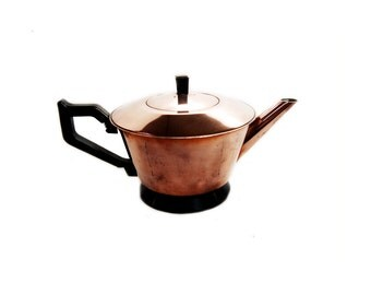 1940s Milesman Copper Teapot Art Deco