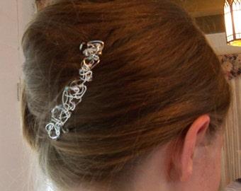 Handmade Wirework Hair Jewelry Jewellery Accessory Swarovski Crystals Wedding Bridal Party Prom Gift Guide Women