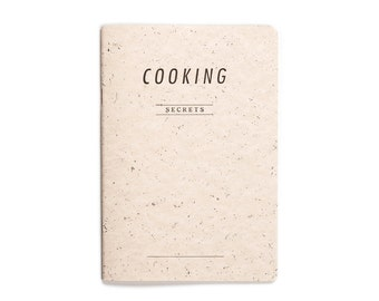 COOKING secrets - letterpress printed notebook - Pastel Salmon color -  COOK5008R