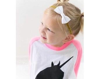 Baby Headband - Gold Headband - Newborn Headband - Infant Headband - Bow - Baby Girl Headbands - Baby Girl - Headbands - Baby - Newborn