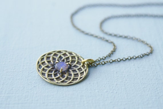 Circle of Life necklace - labradorite