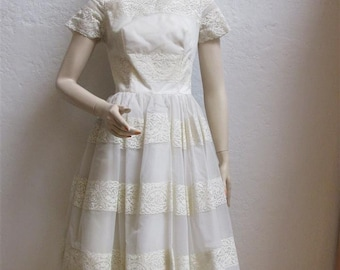 Lace tea length wedding dress etsy for Etsy tea length wedding dress