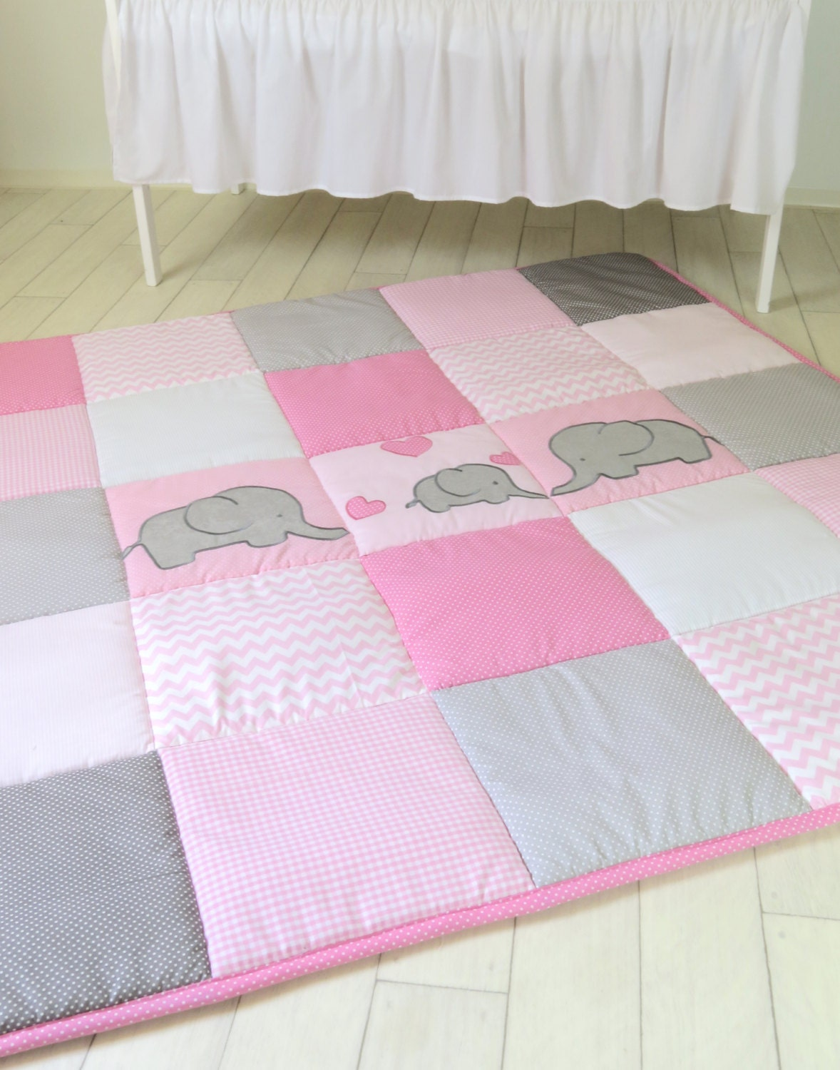 baby playmat chevron play mat pink gray baby rug crawling. Black Bedroom Furniture Sets. Home Design Ideas