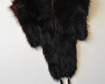 ON SALE Vintage 50s Fur Stole Shawl Cape Wrap One Size