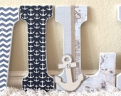 Boy Nursery Wall Decor, Nursery Letters, Wall Letters, Personalized Baby Gift, Baby Name,-any color and theme