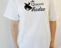 Rodeo original design heavy cotton t-shirt - original design apparel/tees - rodeo queen tee - horse/cowgirl t-shirt - western apparel